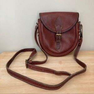 Vintage Leather Roots Crossbody